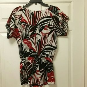 Claudia Richard Tops - Claudia Richard Black Red & White Blouse Size M
